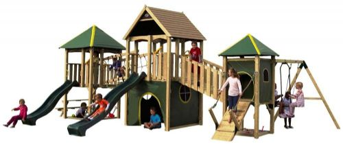 Giant Luxury Wildebeest Wooden Outdoor Kids Play Adventure Park